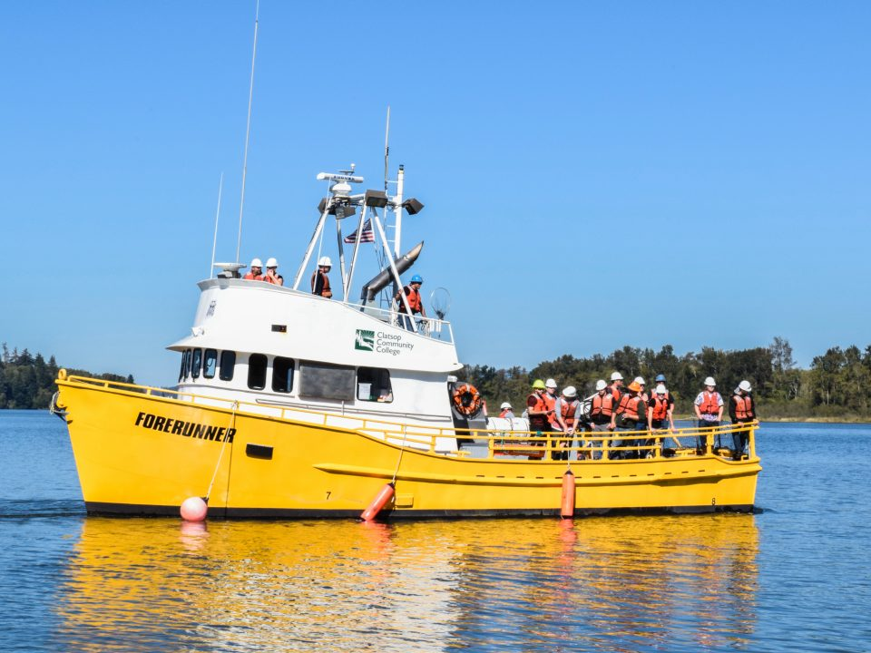 Forerunner boat used in the vessel operations program