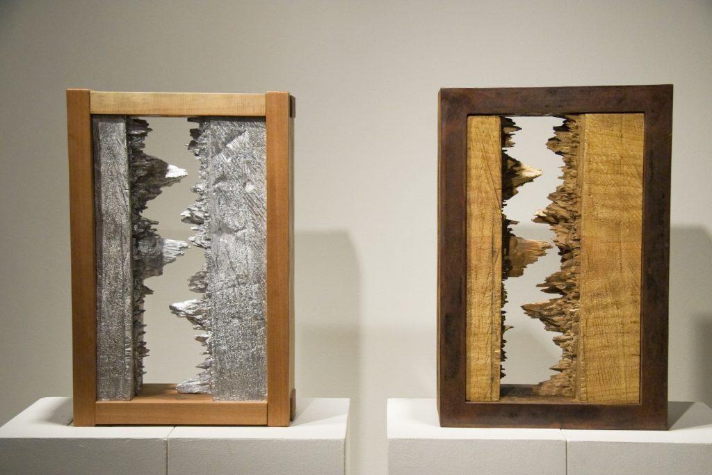 Hinge Diptych sculpture by Lee Imonen