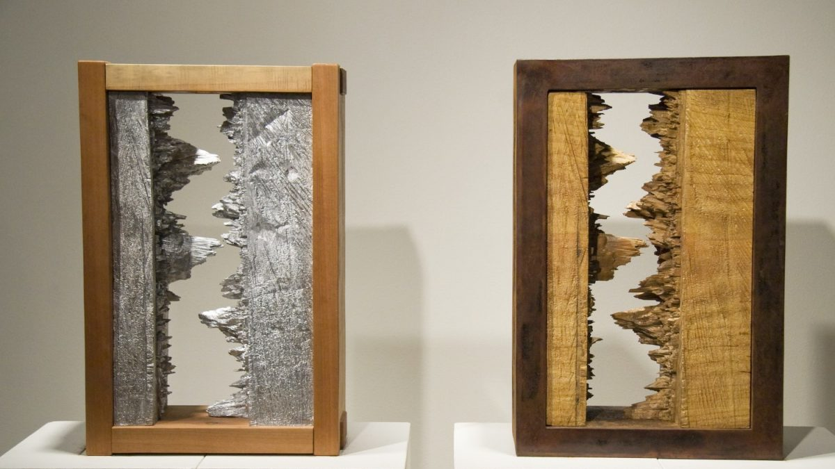 Hinge Diptych sculpture by Lee Imonen