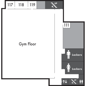 Patriot Hall Level 1 Map