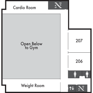 Patriot Hall Level 2 Map