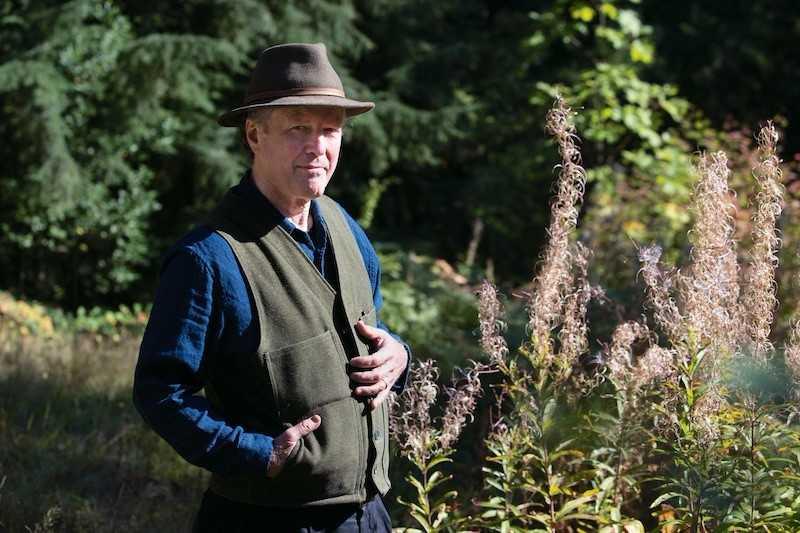 Outdoor photo of poet laureate, Kim Stafford
