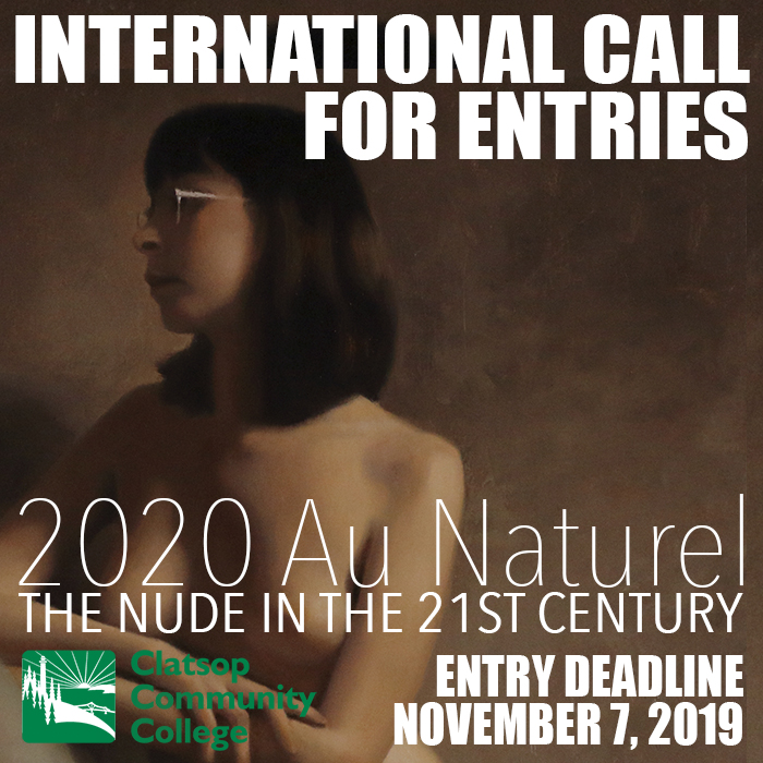 Flyer for the 2020 Au Naturel Nude in the 21st Century art exhibition