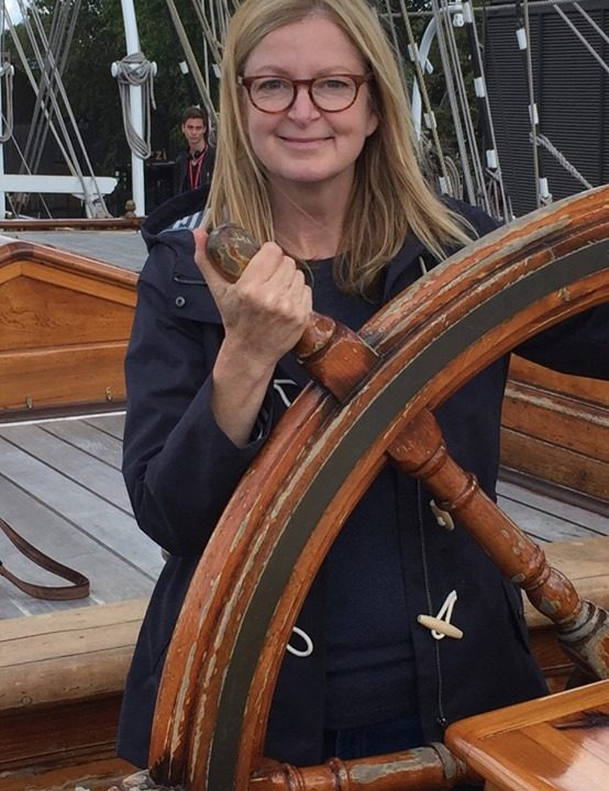 English Instructor Julie Brown aboard vessel Cutty Sark