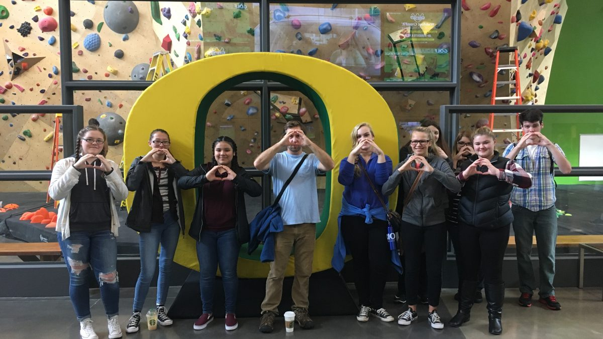 Pre-College TRIO campus visit to University of Oregon