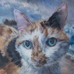 Painting #3 Debi Glass, Benson Enjoying the Breeze