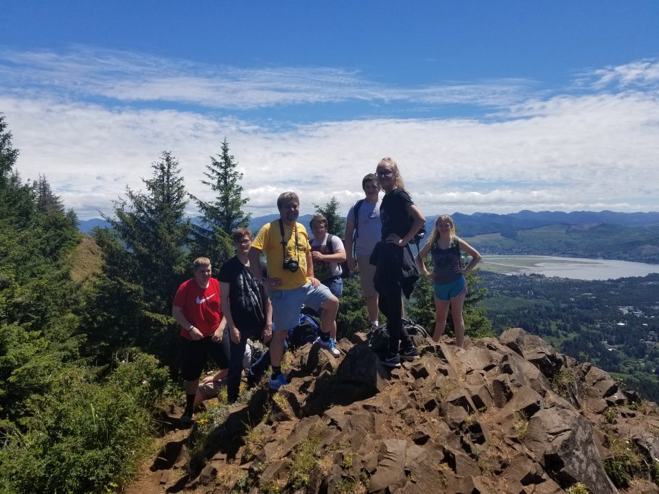 A group of students from the 2019 Upward Bound group on a hike