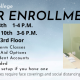 Winter enrollment Days are Tuesday, December 8th from 1 to 4 p.m. and Thursday, December 10th from 3 to 6 p.m.